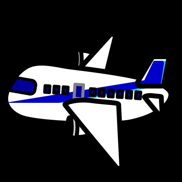 かわいい飛行機の無料イラスト・商用フリー