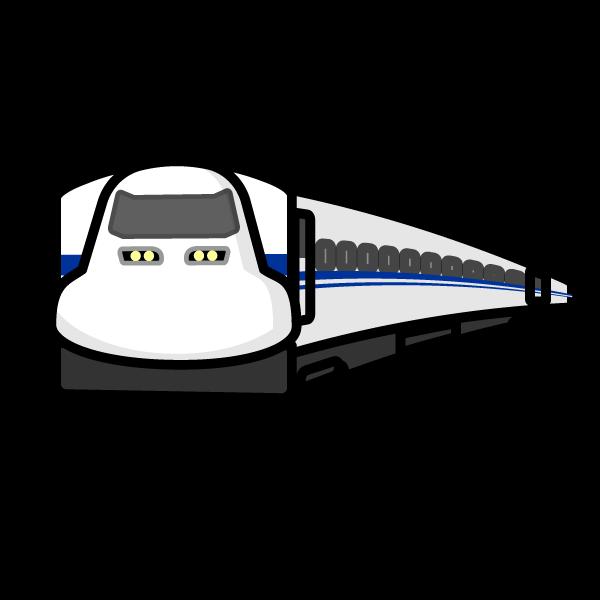 かわいい新幹線の無料イラスト・商用フリー