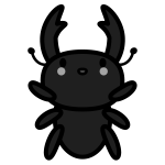 stag-beetle_01-monochrome