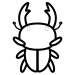 stag-beetle_01-top-blackwhite