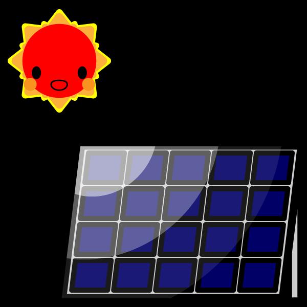 かわいい太陽光発電の無料イラスト・商用フリー