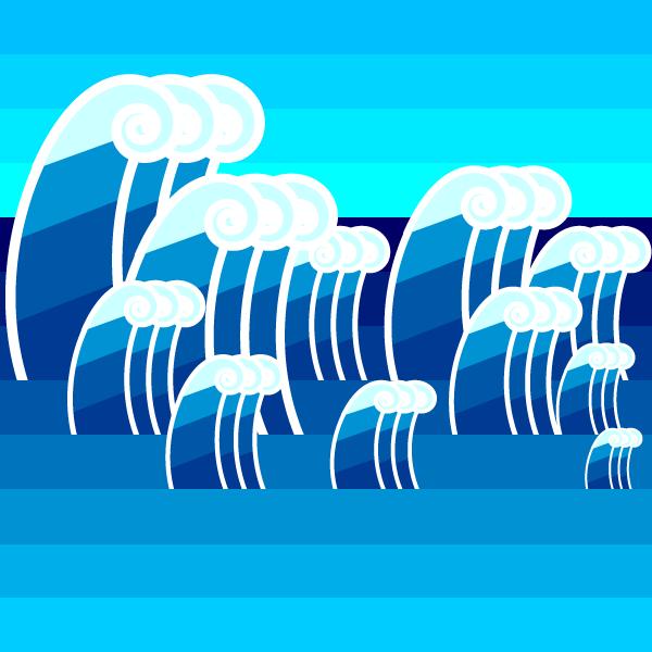 かわいい波の無料イラスト・商用フリー