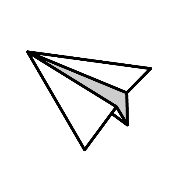 可愛い紙飛行機. aeroplane_01, モノクロ aeroplane_01,monochrome