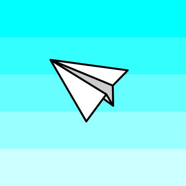 かわいい紙飛行機の無料イラスト・商用フリー