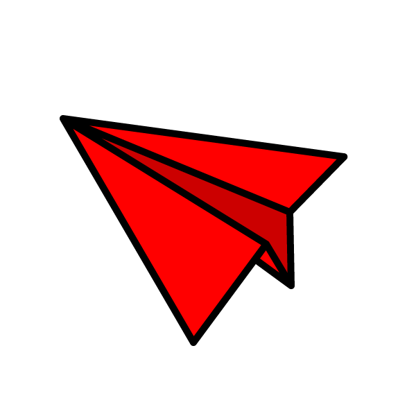 赤色の紙飛行機 aeroplane_red