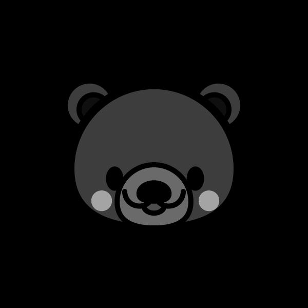 bear_face-monochrome