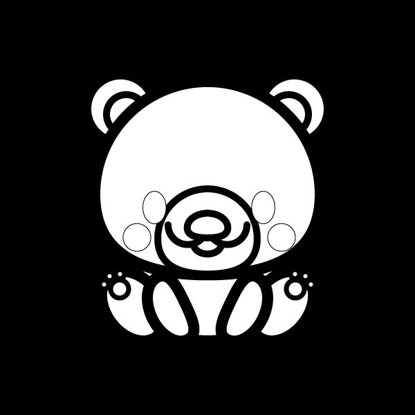 bear_sit-blackwhite