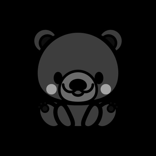 bear_sit-monochrome
