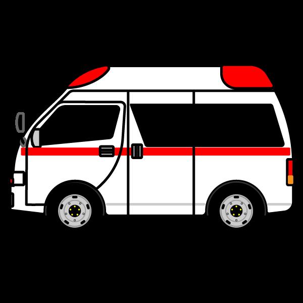 かわいい救急車の無料イラスト・商用フリー
