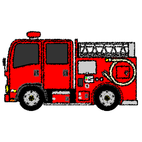 car_fire-engine-handwrittenstyle
