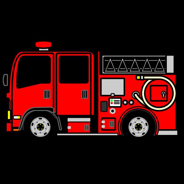 かわいい消防車の無料イラスト・商用フリー