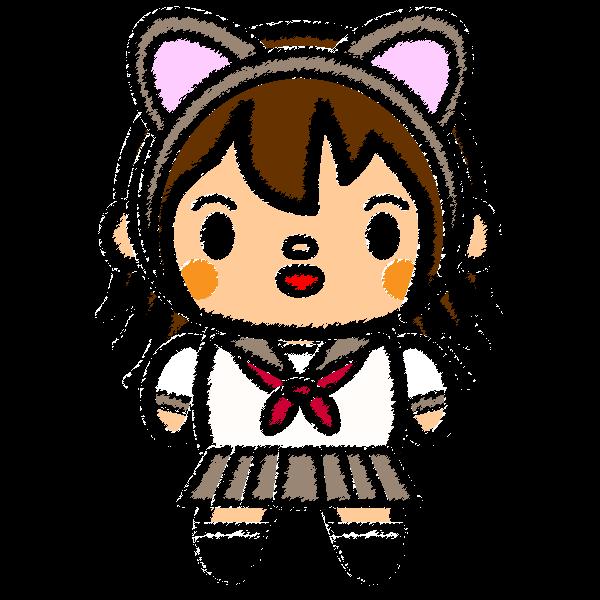 cat-ears-girl_01-handwrittenstyle