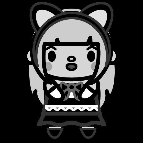 cat-ears-girl_02-monochrome