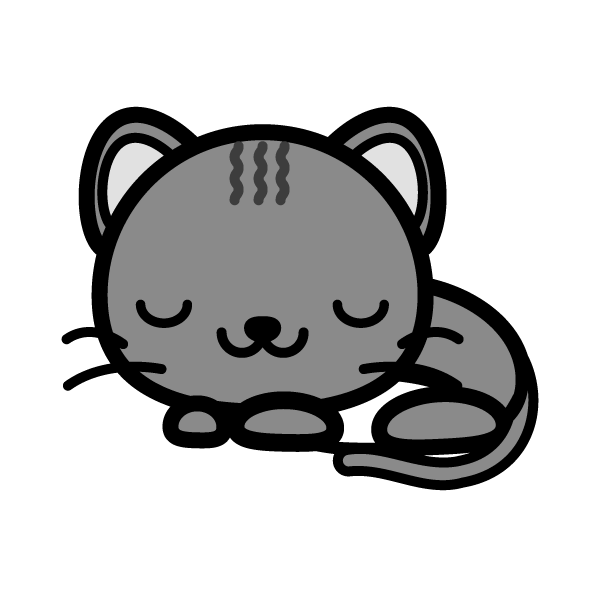 cat_sleep-monochrome
