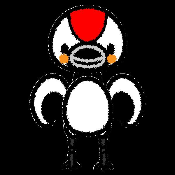 手書き風でかわいい鶴の無料イラスト・商用フリー