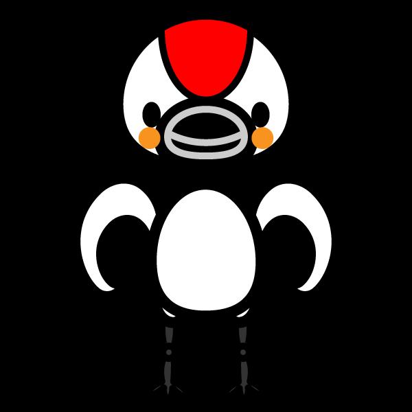 かわいい鶴の無料イラスト・商用フリー