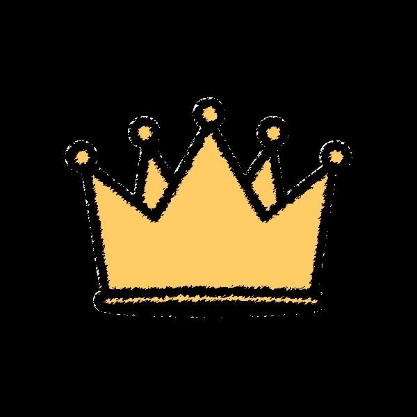 手書き風でかわいい王冠の無料イラスト・商用フリー