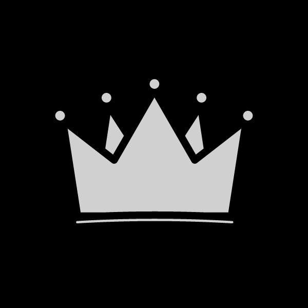 モノクロでかわいい王冠の無料イラスト・商用フリー