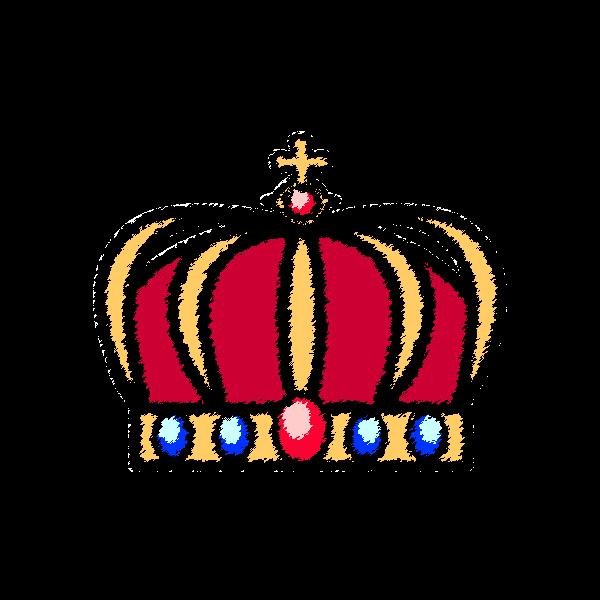 手書き風でかわいい王冠2の無料イラスト・商用フリー