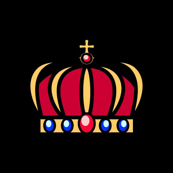 かわいい王冠2の無料イラスト・商用フリー