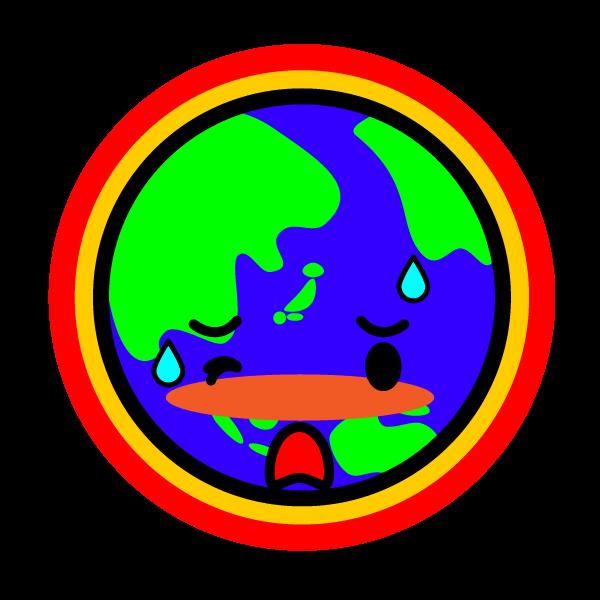 かわいい地球温暖化の無料イラスト・商用フリー