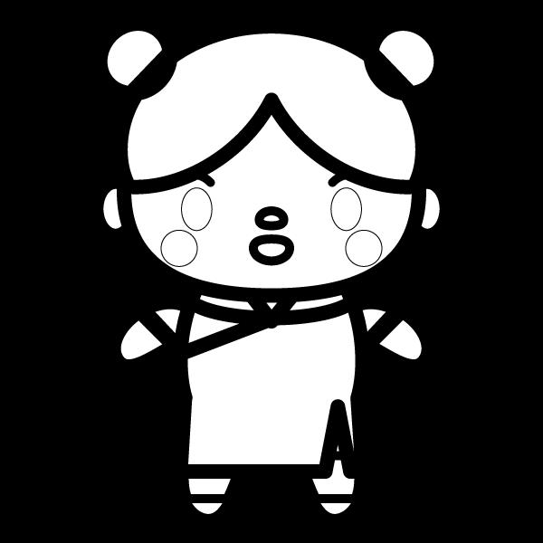 foreigner-woman_chinese-blackwhite