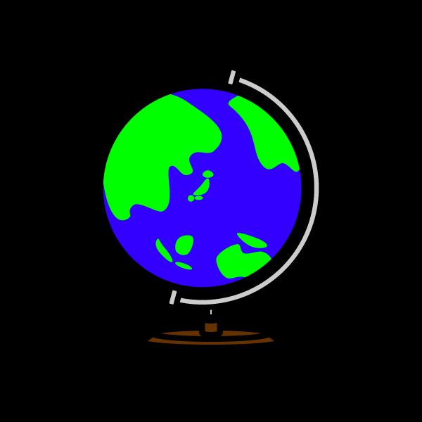 かわいい地球儀の無料イラスト・商用フリー