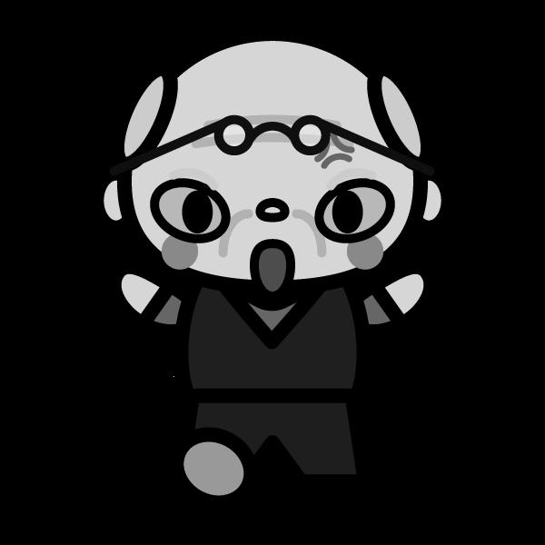 grandfather_angry-monochrome