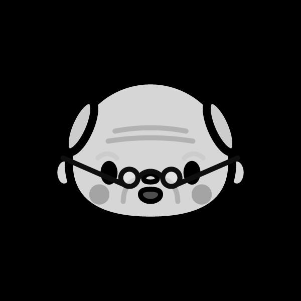 grandfather_face-monochrome