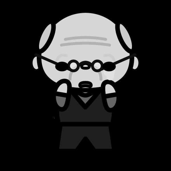 grandfather_sad-monochrome