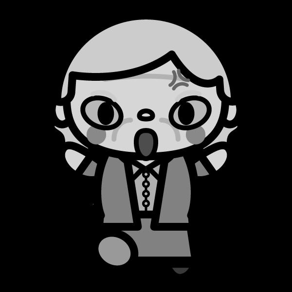 grandmother_angry-monochrome