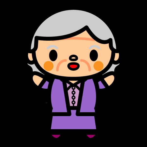 かわいいおばあちゃんの無料イラスト・商用フリー