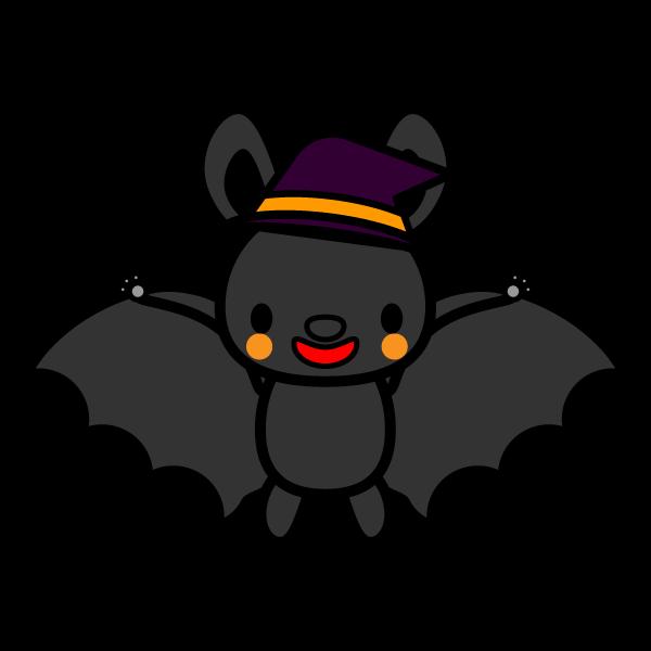 かわいいハロウィンのコウモリの無料イラスト・商用フリー