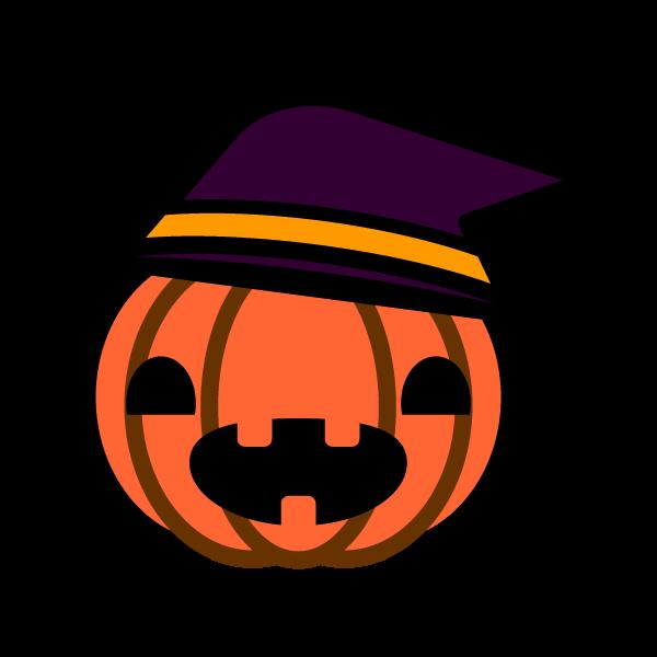 ハロウィンのかぼちゃの無料イラスト・商用フリー