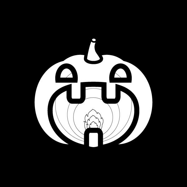 halloween_pumpkinlamp-blackwhite