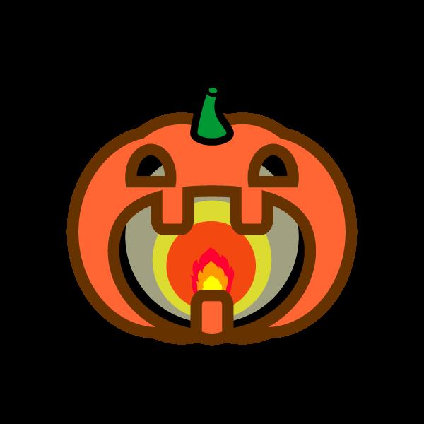ハロウィンのかぼちゃランプの無料イラスト・商用フリー