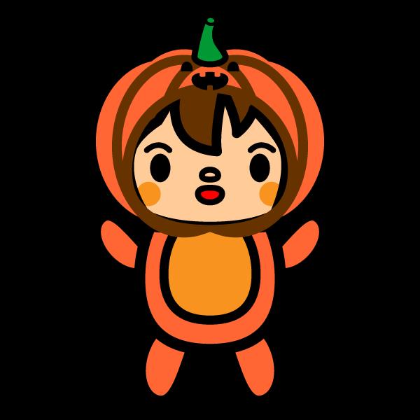 可愛いハロウィンかぼちゃの着ぐるみ