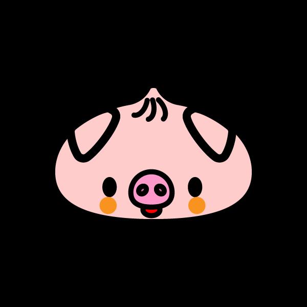 かわいい豚まん?の無料イラスト・商用フリー