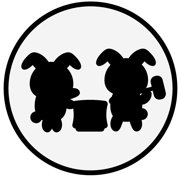 moon-viewing_rabbit02-monochrome