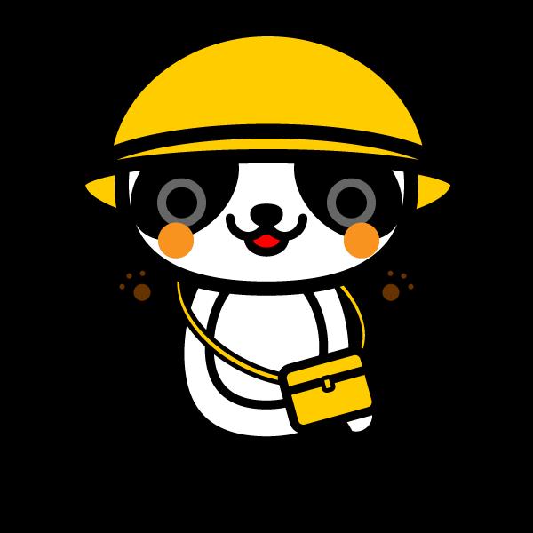 かわいい保育、幼稚園児パンダの無料イラスト・商用フリー