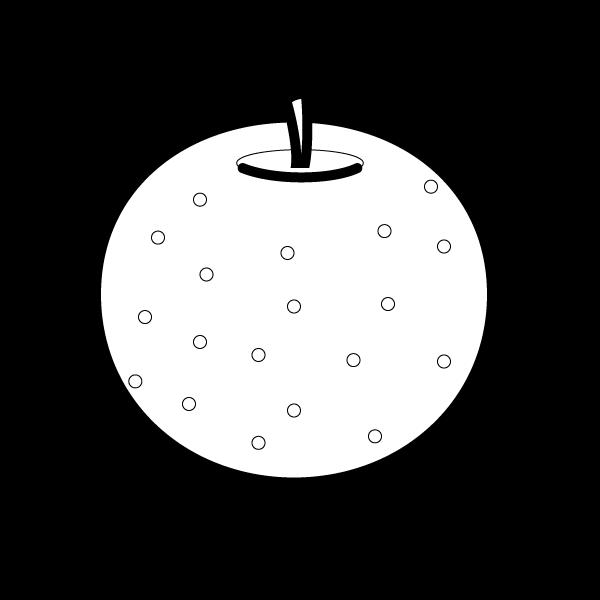 塗り絵に最適な白黒でかわいい梨の無料イラスト・商用フリー