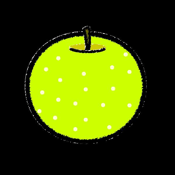 手書き風でかわいい梨の無料イラスト・商用フリー