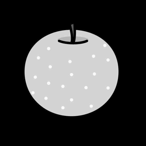 モノクロでかわいい梨の無料イラスト・商用フリー
