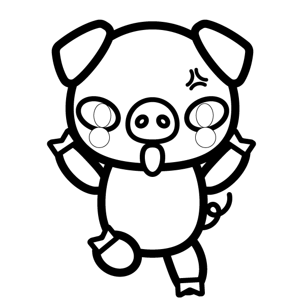 pig_angry-blackwhite