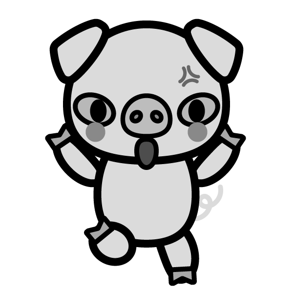 pig_angry-monochrome