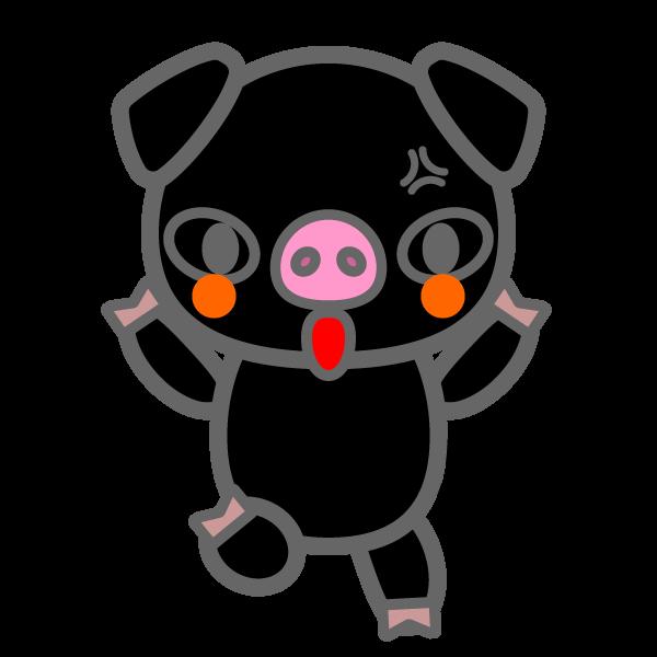 pig_black-angry
