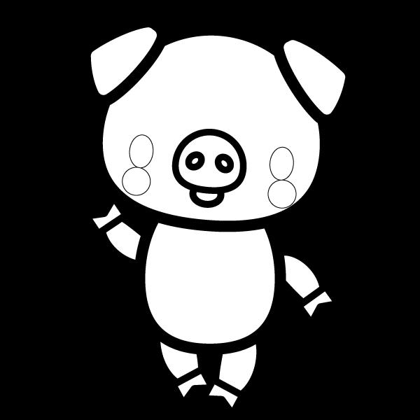 pig_enjoy-blackwhite