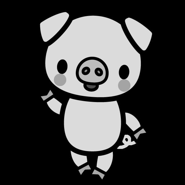 pig_enjoy-monochrome