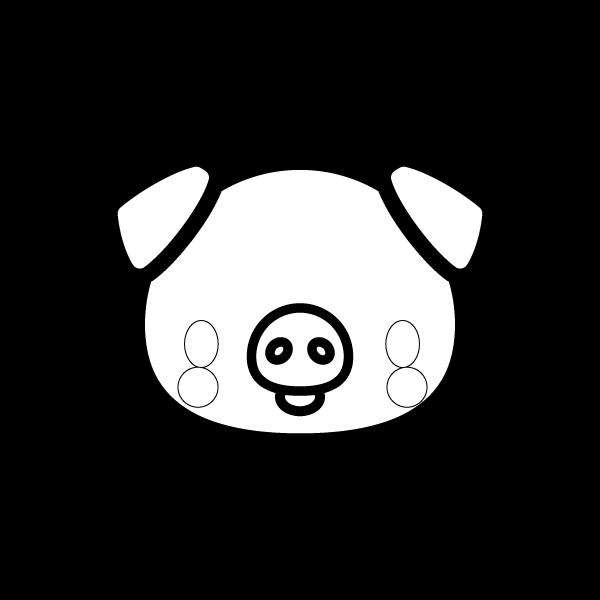 pig_face-blackwhite