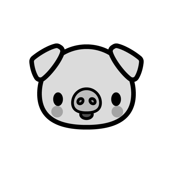 pig_face-monochrome